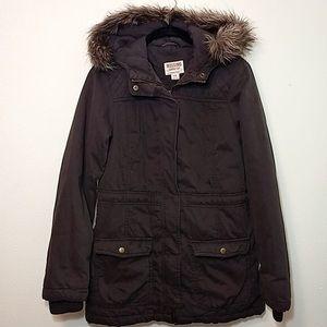 Parka w/ Removable Faux Fur Hood
